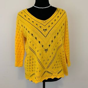 Joseph A Daffodil Color Sweater